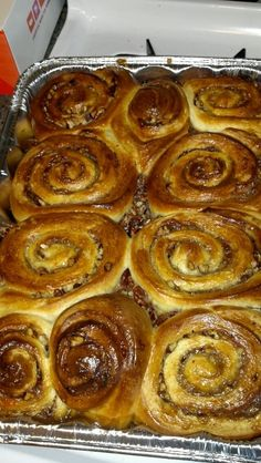 Sticky Buns! I used Julia Child's recipe and some help from Joanne Chang's video on how2heros.com:   http://how2heroes.com/videos/dessert-and-baked-goods/sticky-buns