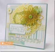 A springtime floral birthday card created using new images from Waltzingmouse Stamps!