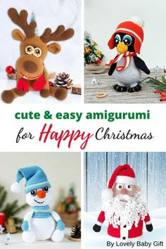 Christmas is just around the corner, and it's time to prepare your home decorations! Christmas Penguin, Reindeer, Snowman and Santa Claus gift bag will be fun decorations under your Christmas tree, and they're easy to crochet. Great DIY gift for your loved ones on this Christmas! #christmascrochet #amigurumi #christmasamigurumi #lovelybabygift Crochet Ornament Patterns, Craft Patterns, Crochet Patterns, Knitting Patterns, Crochet Gifts, Diy Crochet, Crochet Toys, Easy Amigurumi Pattern, Crochet Decoration