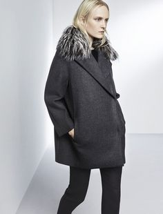 Max Mara COMODO medium grey: Cashmere and wool coat.