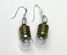 Vintage Bulb EARRINGS  A Bright Idea from by jewelryjoys on Etsy, $28.00