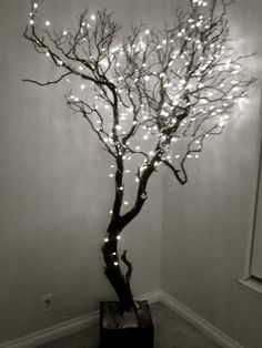 Best Ideas for tree branch crafts twinkle lights