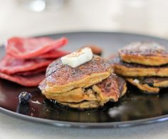 Paleo pumpkin pecan pancakes.