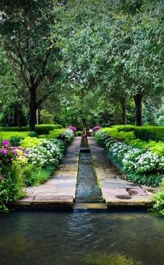 gorgeous water feature in a formal garden