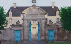 Château de Brécy in Normandy - the French do love a blue door