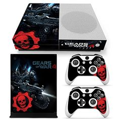 Xbox One S Console Skin Decal Sticker Gears Of War 4  2 Controller Skins Set * Want additional info? Click on the image. #green