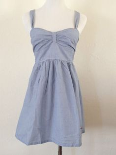NWT Hollister by Abercrombie & Fitch Spring Striped Cotton Dress Blue Size M