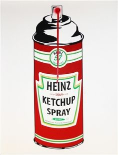 Heinz Ketchup Spray, 2010  Mr. Brainwash