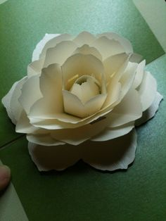 Camelia rose style Flower pop up card birthday girlfriend happy birthday Pop Up Flower Cards, Pop Up Flowers, Paper Flowers, 3d Cards, Paper Cards, Kirigami, Libros Pop-up, Pop Up Greeting Cards, Pop Up Art