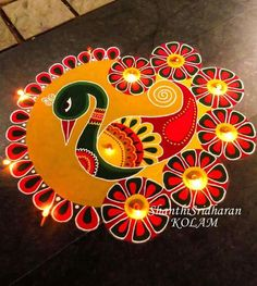 51 Diwali Rangoli Designs Simple and Beautiful Rangoli Designs Peacock, Best Rangoli Design, Simple Rangoli Designs Images, Rangoli Designs Latest, Colorful Rangoli Designs, Beautiful Rangoli Designs, Kolam Designs, Easy Rangoli Designs Diwali, Indian Rangoli Designs