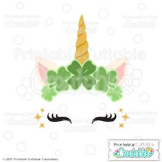Patrick's Day Clover Unicorn Face Free SVG File for Cricut, Silhouette patricks day face paint St. Patrick's Day Clover Unicorn Face Free SVG File for Cricut, Silhouette St Patricks Day Clipart, Happy St Patricks Day, Svg Files For Scan And Cut, Svg Files For Cricut, Shamrock Printable, Vinyl Crafts, Paper Crafts, Free Svg, St Patrick's Day Decorations