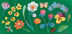 spring has come- Kimikahara Hand Embroidery Projects, Embroidery Hoop Art, Embroidery Stitches, Embroidery Patterns, Japanese Embroidery, Textiles, Textile Art, Needlework, Crafts