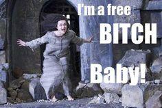 Bellatrix Lestrange: i'm a free bitch baby! Harry James Potter, Harry Potter Jokes, Harry Potter Fandom, Harry Potter Characters, Belatrix Lestrange, Hogwarts, Tim Burton Characters, Nerd, Helena Bonham Carter