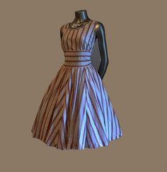50's full circle skirt dress via Etsy