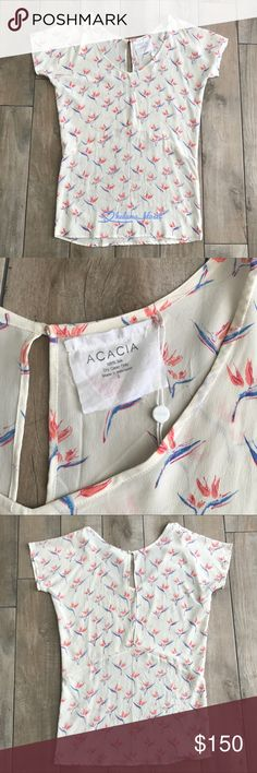 Acacia Rurutu dress in Bird of Paradise bop Acacia Rurutu 100% silk dress. Size Small *very rare & hard to find piece* acacia swimwear Dresses Mini
