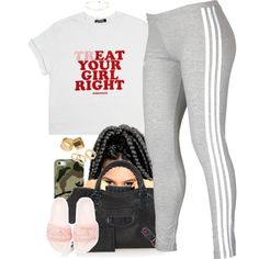 A fashion look from September 2016 by cjasmyne featuring adidas, Puma, Balenciaga, Pieces and Casetify