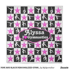 PINK AND BLACK PERSONALIZED GYMNAST STAR DUVET Calling all Gymnasts! Enjoy the best selection of Gymnastics Tees & Gifts from Zazzle.  15% Off Sitewide Use Code: SPRINGLOVE17      http://www.zazzle.com/mysportsstar/gifts?cg=196751399353624165&rf=238246180177746410   #Gymnastics #Gymnast #Gymnastgift #Gymnastgirl