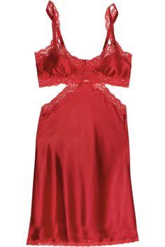 Stella McCartney | Red Clara Whispering Stretchsilk Chemise | $270