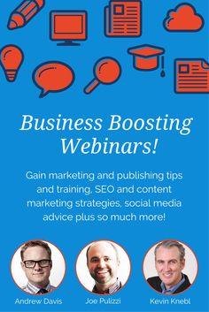 Stay ahead of your competition with our FREE Weekly Webinars designed to help boost your audience and get your business noticed!