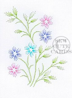 Light Silks Themed dainty flowers by Sew Cute Cards www.facebook.com/sewcutecards http://sewcute.storenvy.com