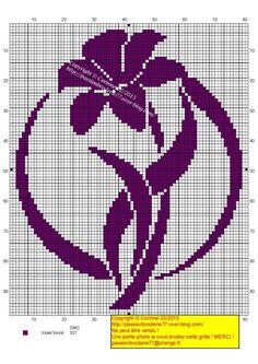 Violette rond - My site Cross Stitch Pillow, Cross Stitch Charts, Cross Stitch Designs, Cross Stitch Patterns, Butterfly Cross Stitch, Cross Stitch Rose, Cross Stitch Flowers, Filet Crochet Charts, Crochet Doily Patterns