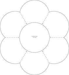 flower petal template Nick and Norah Paper Flower CD Case Applique Patterns, Flower Patterns, Quilt Patterns, Sewing Patterns, Diy Design, Design Case, Techniques Textiles, Lap Book Templates, Owl Templates