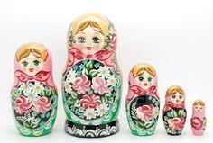5 Authentic Russian Nesting dolls Matryoshka by artmatryoshka
