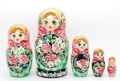 5 Authentic Russian Nesting dolls Matryoshka by artmatryoshka