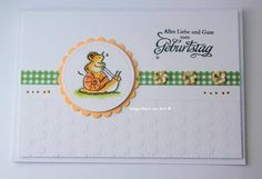 blog.karten-kunst.de - Schneckenpost. Karten-Kunst Weise Worte Geburtstag, Penny Black Clearstamps Critter Party Penny Black Karten, Penny Black Cards, Pet Mice, House Mouse, Small Animals, Xmas Cards, Party, Stampin Up, Card Ideas