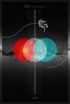 Alternative Movie Poster for 2001 A Space Odyssey by Laz Marquez