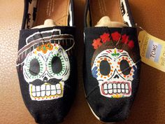 Day of the Dead TOMS by megganmoffett on Etsy, $90.00