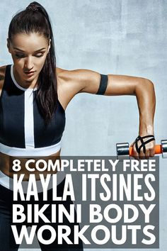 8 Kayla Itsines Workouts for Serious Results | Looking for a bikini body workout and diet plan you can do at home or at the gym for FAST results? There are loads of results and transformation photos of how the BBG program has helped women lose weight and get in shape. Kayla's guide will teach you the basics, and we're sharing our favorite free abs, arms, legs, and core workout videos to add to your weekly workout schedule! #weightloss #exercise #kaylaitsines #BBG #BBGprogress