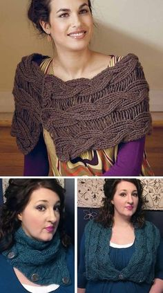 Knitting Pattern for Echo Reversible Drop-Stitch Mobius Knitted Poncho, Knitted Shawls, Crochet Shawl, Knit Crochet, Knitting Short Rows, Knitting Yarn, Knitting Stitches, Knitting Patterns Free, Free Knitting