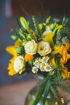 Yellow Wedding Flowers with Campbell's Flowers