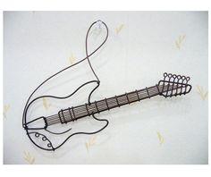 ワイヤークラフト 壁掛け ギター