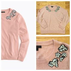 J. Crew Opal Embellished Sweater Gorgeous J. Crew blush colored Opal Embellished Sweater. Retailed for $148 and sold out! Size large. In excellent condition. Feel free to ask any questions below or make me an offer! J. Crew Sweaters Crew & Scoop Necks