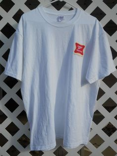 Men's Miller High Life Beer T Shirt Size XL Short Sleeves White #Anvil #GraphicTee Sold
