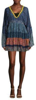 Hemant & Nandita Tiered Silk Tunic Dress