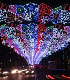Holiday lights in Madrid
