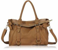 Tan Soft Shoulder Handbag with Bow detail