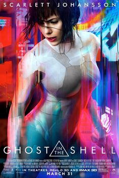 Ghost in the Shell - Advance - US One Sheet - Rupert Sanders's film starring Scarlett Johansson, Takeshi Kitano, Michael Pitt, Pilou Asbæk, Chin Han and Juliette Binoche Movies And Series, Hd Movies, Movies To Watch, Movies Online, Movie Tv, 2017 Movies, Movies Free, Jack Movie, Movie Titles