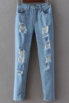 $21.99 for Broken Hole Narrow Feet Jeans