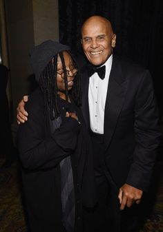 Whoopi Goldberg Photos - Whoopi Goldberg (L) and musician Harry Belafonte attend the 2015 amfAR New York Gala at Cipriani Wall…