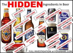 Please Share This Page: Please be sure to Join our email list and receive all our latest tutorials daily – free! Image – FoodBabe.com (reposted with written permission) Did you know that in the USA and other countries, the ingredients in beer are not required by law to be listed anywhere on the label?? Beer …