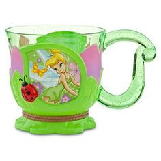 Disney Tinker Bell Cup | Disney StoreTinker Bell Cup - Take a leaf out of Tink's book when you sip from this floral Tinker Bell Cup! Our charming cup features Tinker Bell, figural ladybugs, and a leaf-shaped handle. Made of durable acrylic, it's perfect for outdoor pixie picnics!