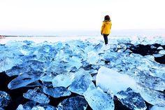 Ice beach of Jokulsarlon in Southern Iceland