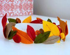 felt leaf crown for autumn. Love this