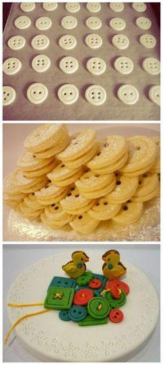 Upečte si gombíky na tortu. Pozrite si perfektný a podrobný fotopostup na Tortyodmamy.sk.
