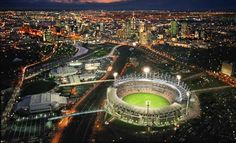 MCG (Melbourne Cricket Ground) Melborne, Victoria.   Melbourne is Australia's sporting capital and whilst this stadium is the Melbourne CRICKET Ground, it is also home to our beloved game of AFL.  It's like a Mecca to Australians, everyone should visit it at least once in their lifetime :)