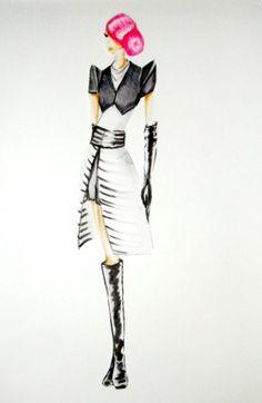 Fashion drawing by Amanda Curtis